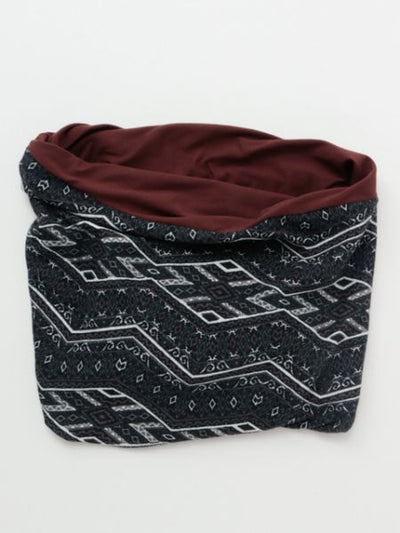 Geometrical Pattern Neck Warmer-Ametsuchi
