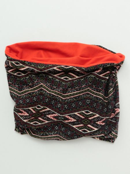 Geometrical Pattern Neck Warmer-Scarves-Ametsuchi