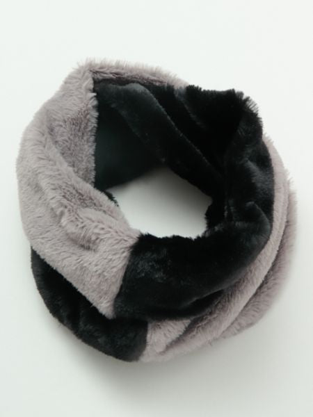 Bi Color Faux Far Snood-Schals-Ametsuchi
