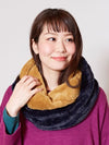 Bi Color Faux Far Snood -Scarves-Ametsuchi