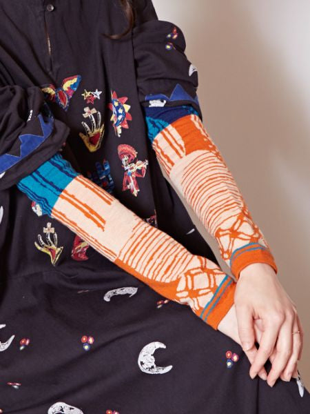 Wolle Mixed Arm Cover-Handschuhe-Ametsuchi