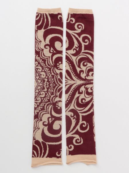 Wool Mixed Tribal Pattern Arm Cover-Ametsuchi