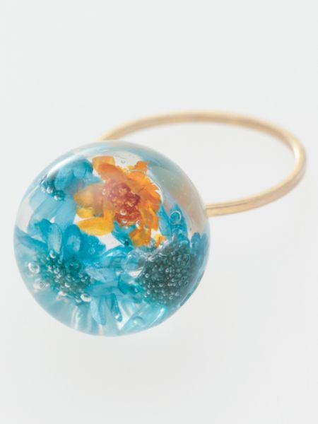 Flower Ball Ring-Ametsuchi