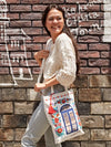 Zalipie Printed Tote, Shounder Bag-Ametsuchi