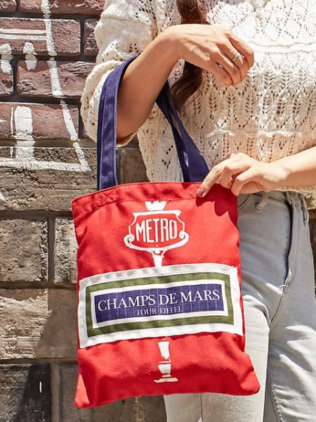 Paris Metro Inspired Tote Bag-Ametsuchi
