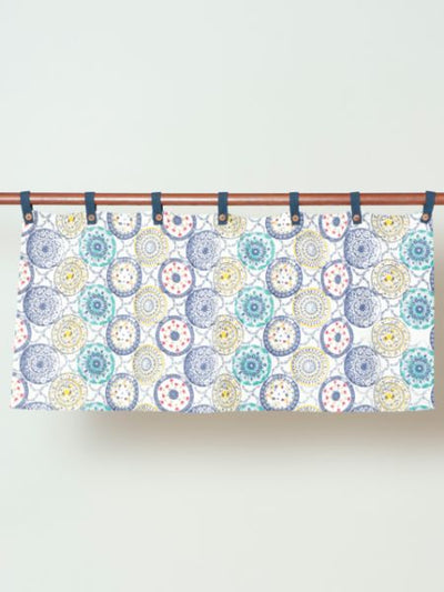 Motif de poterie espagnole Cafe Curtain-Home Decor-Ametsuchi