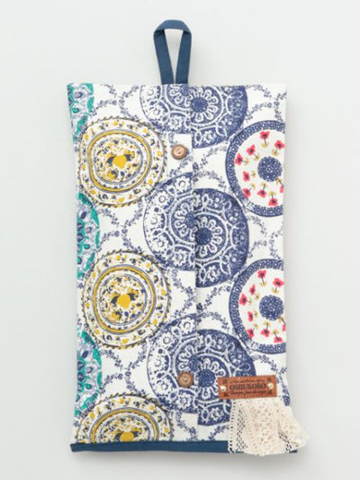 Spanish Pottery Pattern Tissue Case Cover-Ametsuchi