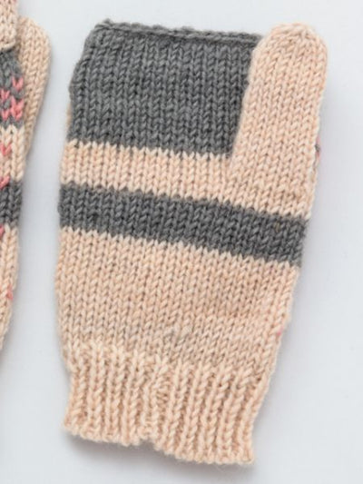 Nordic Pattern Knitted Gloves-Gloves-Ametsuchi
