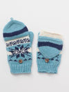 Nordic Pattern Knitted Gloves -Gloves-Ametsuchi