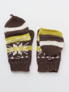 Nordic Pattern Knitted Gloves-Ametsuchi