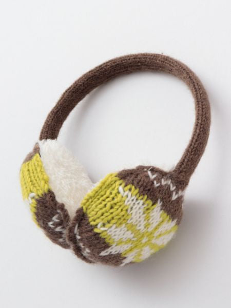 Nordic Pattern Knitted Earmuffs