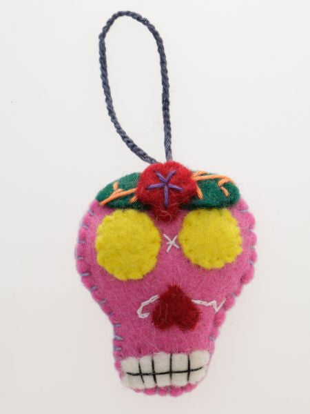 Calavera Felt Ornament-Home Décor-Ametsuchi