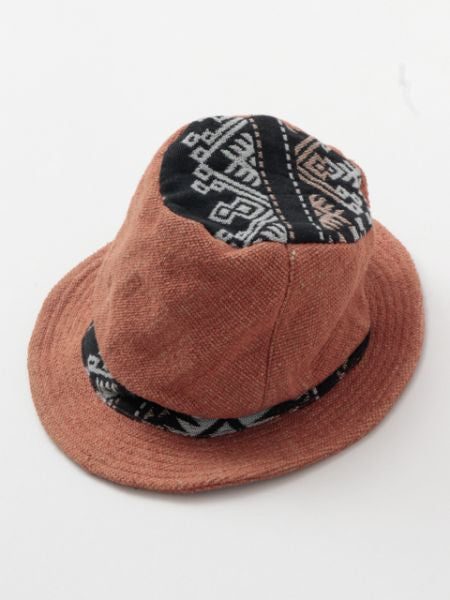 Dhaka Fabric Patchwork Hat-Caps & Hats-Ametsuchi