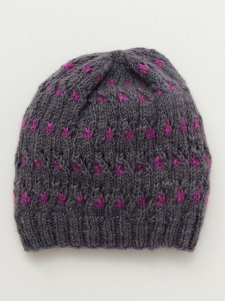 Dot Pattern Knitted Beanie-Ametsuchi