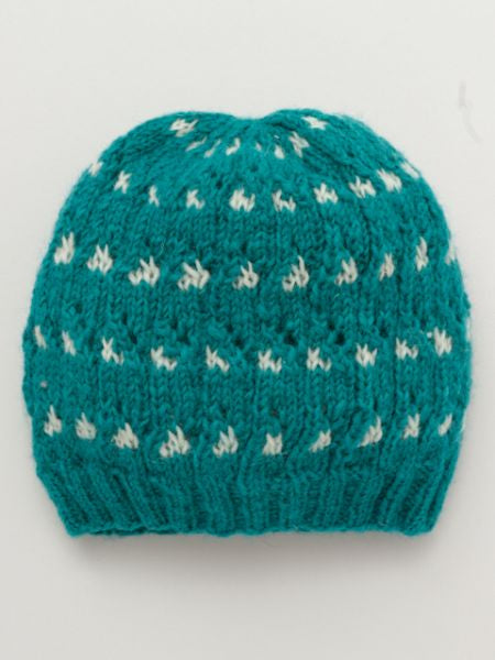Dot Pattern Knitted Beanie