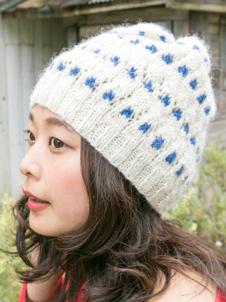 Dot Pattern Knitted Beanie-Caps & Hats-Ametsuchi