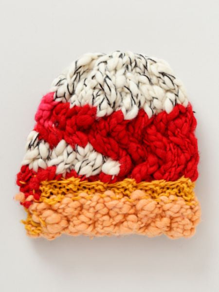 Mixed Yarn Knitted Beanie
