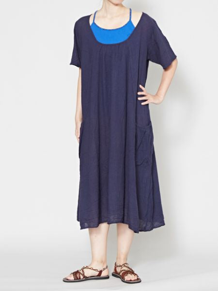 Big Pocket Cotton Midi Dress