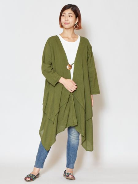 Layered Cotton Cardigan