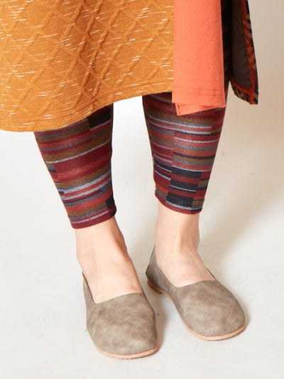 Colorful Knit Leggings-Pants & Shorts-Ametsuchi