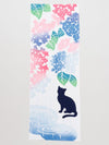 TENUGUI Towel Hydrangea x Cat-Home Accessories-Ametsuchi
