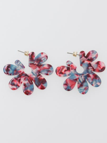 Marble Flower Earrings