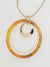 Marble Hoop Statement Necklace