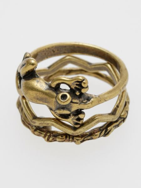 Animal Metal Ring Set of 3