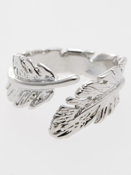 Feather Metal Ring -Rings-Ametsuchi