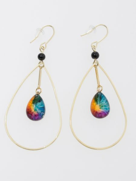 Marble Drop Earrings