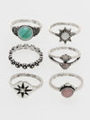 Boho Chic Metal Ring Set -Rings-Ametsuchi