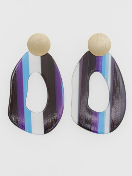Multi Striped Earrings