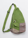 Hand Woven Cotton One Shoulder Bag-Bags & Purses-Ametsuchi