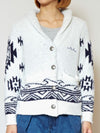 Navajo Wave Knit Short Jacket