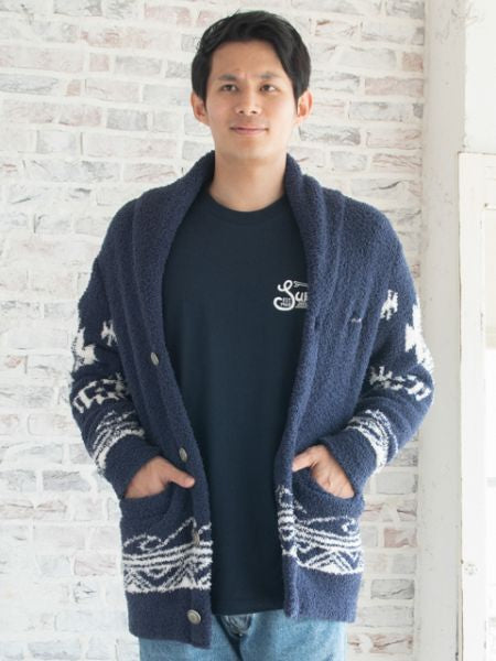 Navajo Wave Knit Short Jacket-Cardigans & Outerwear-Ametsuchi