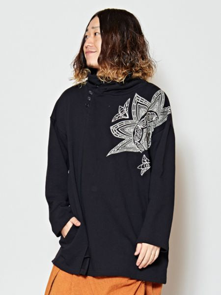 Lotus Pattern Sweat-OberteileAmetsuchi