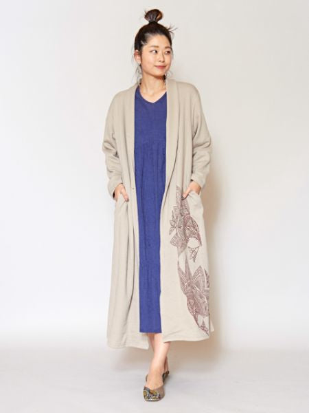 Lotus Sweat Long Jacket-Ametsuchi