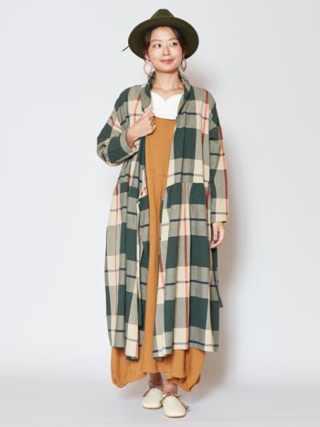 Woven Plaid Pattern Dress