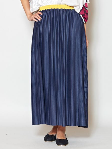 Rayon Jersey Pleated Skirt