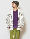 Constellation Printed Hoodie Jacket-Cardigans & Outerwear-Ametsuchi