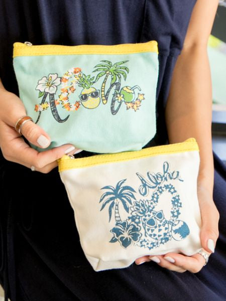 ALOHA Pouch Set of 2
