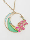 Hibiscus Necklace-Necklaces-Ametsuchi