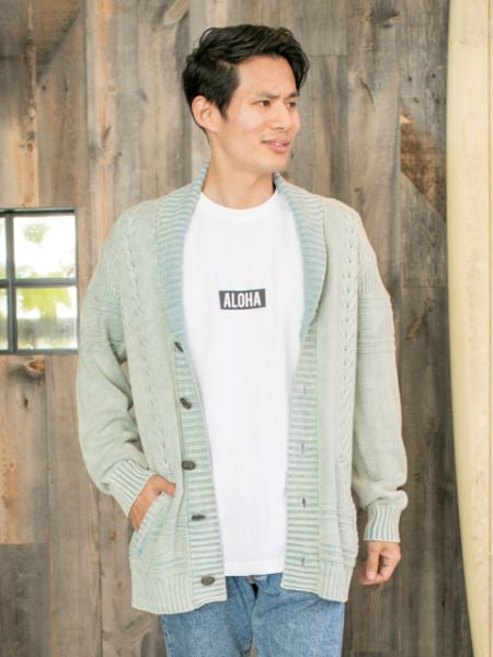 Cotton Knitted Men's Cardigan-Cardigans & Outerwear-Ametsuchi