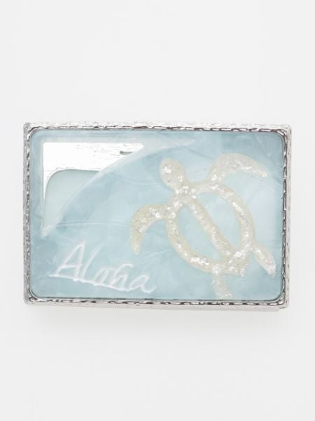 Aloha Wave Square Hair Clip