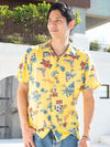 Mixed Hawaiian Motif Men's ALOHA Shirt-Ametsuchi