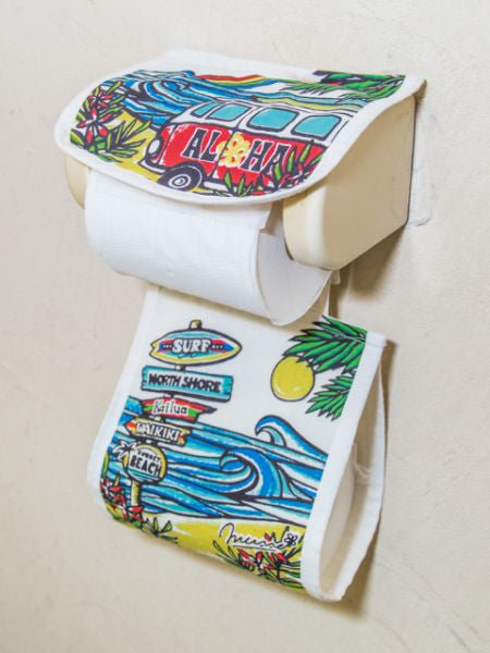 Colorful Hawaiian Toilet Paper Holder