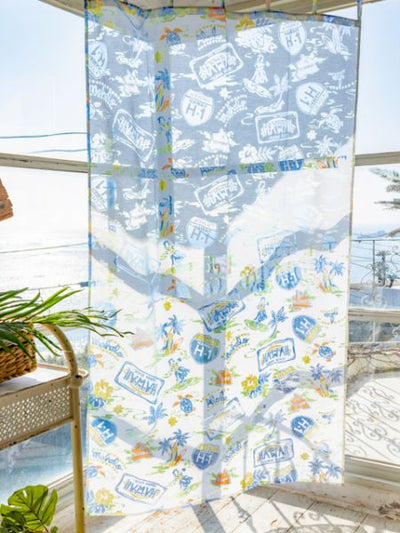 Pop HAWAII Art Sheer Curtain 178cm