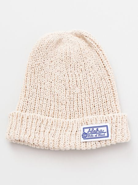 Aloha Cotton Knitted Beanie-Caps & Hats-Ametsuchi