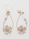 SAKURA Clip Earrings