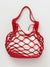 Faux Leather Mesh Bag S